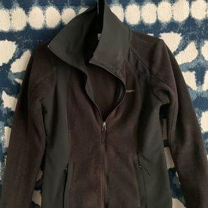 Two tone Black fleece full-zip Columbia jacket